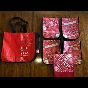 6 LULULEMON bags